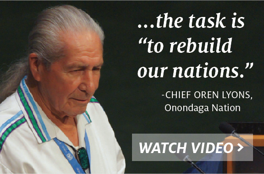 Nation Building_Cheif Oren Lyons